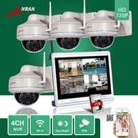 1TB HDD ANRAN CCTV 4CH P2P 720P WIFI NVR 12-Zoll-LCD-Monitor 30 IR Vandal-Proof Dome Kamera 1.0 MP IP Wireless Surveillance System