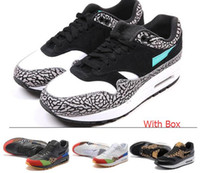 Wholesale Max 87 Shoes - Wholesale Max 87 Atmos Max 1 Max Day Premium lunar 1 DELUXE Best Quality Men Women Size Running Shoes free shipping with Box