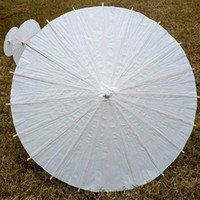 Wholesale bridal wedding parasols White mini paper umbrellas Chinese mini craft umbrella Diameter cm wedding decoration
