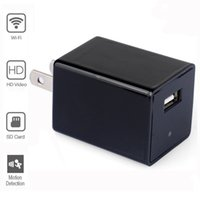 Wholesale Mini Dv Plug - 32GB 1080P WIFI Spy Camera AC Plug USB Wall Charger Mini DVR DV Hidden Camera Video Recorder Support iPhone   Android APP Remote View