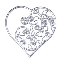 Wholesale Decorative Metal Hearts - Metal Hollow Out Heart Cutting Dies Stencils DIY Scrapbooking Decorative Embossing Folder Suit Paper Cards Die Cutting Template