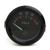 Wholesale Universal Power Meter - Brand New Universal 2 Inch Black Color 52mm Voltmeter Gauge Meter for 8-16V Auto Power Measure CEC_541