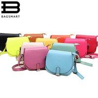 Wholesale Handbags Korea Wholesale - Wholesale-BAGSMART Lovely 8 Candy Color Women Leather Handbags Korea Style Cute Women Messenger Bags Casual Lovely Shoulder Bags