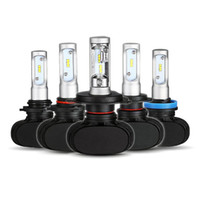 Wholesale H13 White - 2PCS H1 H4 H7 H8 H11 9005 HB3 9006 HB4 Hi-Lo Beam Led Car Bulbs 6500K White CSP Chips 50W Headlight Kits Auto H9 H13 Fog Lamps Fan-less S1