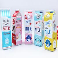 Wholesale Milk Coin Box - Pencil Case Bags Cartoon Milk Boxes Creative School Supplies Holders Children's Day Gift for Kids Coins Purse Fashion