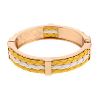 Wholesale Flat Leather For Bracelets - 2017 New Punk Leather Bracelet Gold Plated Spring 0pen Fashion Alloy Vintage Gypsy Bohemian Ethnic Statement Bangle Flat Bracelets For Women