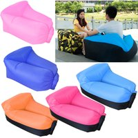 Wholesale Camping Beach Chair - Inflatable Neck Pillow Lounger Air Sofa Chair Comfortable Outdoor Beach Camping Hiking Lazy Sofa Bed OTH526