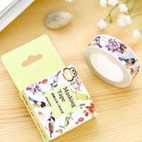 Venda por atacado - 2016 1Box New DIY Paper Washi Tape Cartoon Asas e galhos Decorativos adesivo fita adesiva Scrapbooking Stickers Gift
