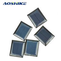 Wholesale Mini Solar Cells - Aoshike 10Pcs Mini Solar Panels 1V 80mA 30*25MM Solar Cells For DIY Scientific Experiment