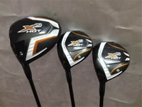 Mano sinistra X2 Set legno caldo X2 Golf Golfs Woods golf club Driver + Fairway Woods R / S albero grafite flessibile con coperchio