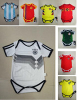 Wholesale Grey Baby Jumpsuit - GERMANY 2018 MEXICO BABY Soccer Jersey SPAIN ARGENTINA SWEDEN RUSSIA BELGIUM COLOMBIA Jumpsuit Baby Climb Clothes 1year 2years boy girl kit