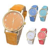 Wholesale Paper News - Fashion Unisex Quartz Watches Men Sports Watches Denim Fabric Women Dress Watch News Paper wristwatch Design hours saat
