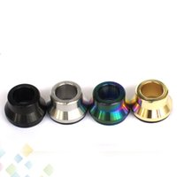 Wholesale Fit Shot - Summit Drip Tip Shooting Top Cap Vape Wide Bore Mouthpiece Kupcake Black Silver Gold Rainbow fit 22 or 24 MM Atomizers DHL Free
