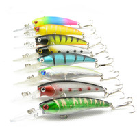 Wholesale Hard Body Fishing Lures - Creative Bionic Bait Fishing Lures Copy Real Fish Plastic Baits Lifelike Fish Hollow Body Tight Bait Pesca 8 Colors A Set