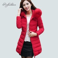 Wholesale Womens Black Velvet Jacket - Womens Winter Jackets And Coats 2016 Thick Warm Hooded Down Cotton Padded Parkas For Women's Winter Jacket Female Manteau Femme