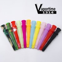 Wholesale Air Water Quality - Silicone Downstem 14F 18M 14mm Female 18mm Male Air Cut Smoking Dropdown Glass Bongs Glass Water High Quality Dab Rig 430