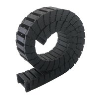 Wholesale 1pc Black Transmission Chains Plastic Reinforced Nylon Cable Drag Chains