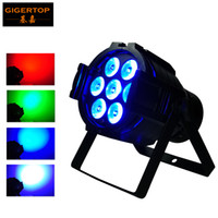 Wholesale Mini Light Sockets - Freeshipping 7x10W RGBW Aluminum Led Par Light Silent Cooling Fan Mini Stage Led Par 32 Projector 3pin DMX IN Out Socket RGBW 4 Color Mixing