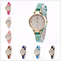 Wholesale Metal Strap Watches For Women - Luxury Women watches Wrist watch Faux leather PU strap metal ears clasp dial diamante quartz Wristwatches For women ANT3412