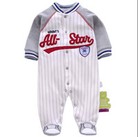 Wholesale Christmas Soccer Socks - 4Styles Baby Romper With Socks Pure Cotton Soccer Sports Infant Children Clothes Rompers Onesies Jumpsuit kids