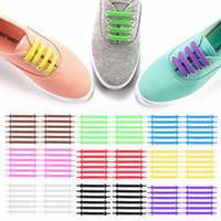 cordones de los zapatos libres al por mayor-Envío libre de DHL V-Tie Diseño creativo Unisex Diseño de moda Correr atlético sin lazo Cordón de zapato Cordones de silicona perezosos Todas las zapatillas de deporte