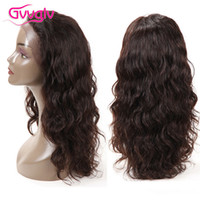 Wholesale 18 Inch Wig - Lace Front Human Hair Wigs For Black Women Top Quality Virgin Hair Body Wave Hair Brazilian Lace Front Wig Natural Color 14 16 18 Inch