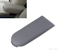 Grey Leather Center Console Armrest Cobertura Tampa Pad para VW Passat Jetta Golf MK4 Skoda Octavia Car Styling # P03
