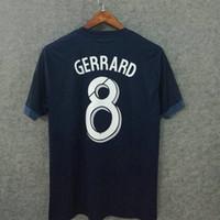 Wholesale Names Galaxies - Perfect soccer jerseys 17 18 la galaxy away blue custom name number gerrard 8 football shirts cothing AAA quality big size XXL XXXL 4XL
