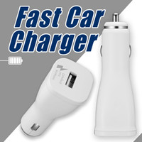Wholesale Iphone Usb Original - For Samsung Fast Car Charger Original Quality 5V-2A Output 100% Quick Charging USB Flash Charge For S7 S8 Note 8 OPP Bag