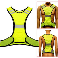 Wholesale Yellow Reflective Vest - Fluorescent Yellow High Visibility Reflective Vest Security Equipment Night Work New Arrival High Quality