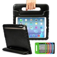 Wholesale Handle Bag Ipad - For 2017 New Ipad 10.5 Case Kids Safe Shockproof EVA Handle Case For ipad 2 3 4 5 6 pro 9.7 12.9 inch Mini1 2 3 4 OPP BAG
