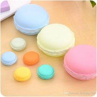 Wholesale Lined Jewelry Boxes - Storage Box Cute Round Macaron Modelling Portable Fidget Hand Spinner Boxes Ear Phone Line Coin Purse Jewelry Case 2 9bc A R