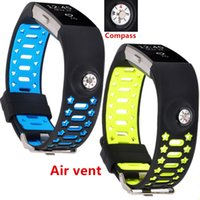 Venda por atacado - 2017 2pcs Lwsengme Silicone band release Compass Wristband Straps fitness para Fitbit cobrança 2 HR / Charge Fitbit 2 / Fitbit Char