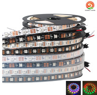 Wholesale Ac Dream - LED Strip WS2813 60led m Smart Ribbon Light SMD 5050 RGB led strip Dream Color Changeable Effects Waterproof IP65 IP67 Black PCB DC5V