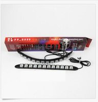 Venda Por Atacado 12LED DRL Driving Fog Light Flexível Daytime Running Light Lamp Toyota / Hyundai / VW / Kia / Mazda