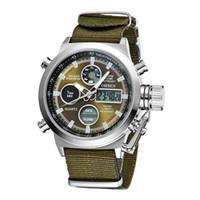 Wholesale Ohsen Led Digital Watches - OHSEN Brand Men Sports Watches LED Digital Quartz Fashion Watch Outdoor Fabric Wristwatches Relogio Masculino Watches