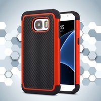 Wholesale Ballistic Case S4 - Football Pattern Rugged ballistic Impact Combo PC+silicone Case cover For iphone 4 5 5s SE 6 6S IPHONE 7 GALAXY S4 S5 S6 S6 EDGE 50PCS LOT