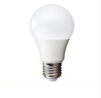 Wholesale E27 LED Bulb Light Plastic Cover Aluminum Degree Globe Light Bulb W W W W W Warm white Cool White