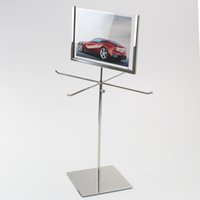 Atacado Metal Jóias Display Stand, colar Display Rack, Metal Gravata Exibe Scarf Displays com poster Stand
