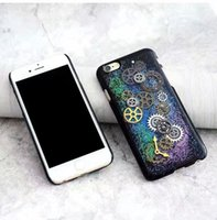 Wholesale Wholesale Gear Bags - Alloy Gear Case For Iphone 7 6s 6 Plus SE 5s 5 Creative Starry Sky Time Clock Hard PC Back Cover OPP BAG