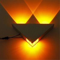 Wholesale Hot high quality Indoor W LED Wall Lamp Aluminum Sconce KTV Bar Corridor Decorate Wall Light LED Lamp AC110 V