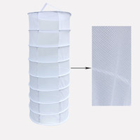 Wholesale Racks For Clothes - White 2-Feet 8-Layer White Hanging Drying Rack Dry Net for Hydroponics Mesh Hydroponic Drying Dry Rack Net