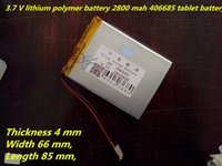 Wholesale Best Branded Tablets - lithium polymer best brand Free shipping A new article 3.7 V lithium polymer battery 2800 mah 406685 ma tablet battery