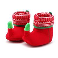 носки первого ходунки оптовых-Осень зима Рождественский подарок Детская обувь носки малыш мальчик девочка мягкое дно первый ходунки обувь Детская обувь 11-12-13 см