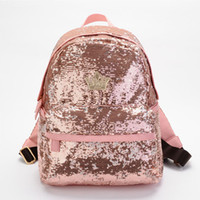 Wholesale Imperial For Sale - Hot Sale New Sequin Fashion Women Backpack Imperial Crown Princess Bag School Backpacks for Teenage Girls Pink