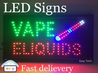 Wholesale Led Neon Board Sign - 2016 New arriving super bright led open sign neon sign board open indoor Vape E-liquid sign