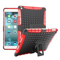 Wholesale High Quality Back Cover Ipad - Shockproof Defender Hard Back Case For iPad 2 3 4 5 6 Air 2 iPad Pro Mini 1 2 3 4 High Quality Kcikstand Hybrid TPU PC Cover