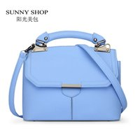 Wholesale Korean Handbags For Girls - Wholesale-SUNNY SHOP Cute Sweet Candy Color Summer Shoulder Bags For Girls Korean Small Women Bags Women Leather Handbags ladies hand bags
