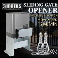 Wholesale Gate Sliding - Motor Powered Automatic Sliding Gate Opener Remote Controllers SLIDING GATE OPENER DOOR OPERATOR 3100LBS