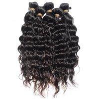 Wholesale French Weaving - New peruvian hair virgin french curly hair 4pcs lot free shipping human hair wavy extension free shedding